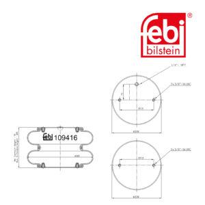 LPM Truck Parts - AIR SPRING (0057007180)
