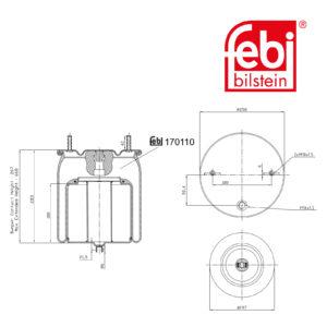 LPM Truck Parts - AIR SPRING (20554763)